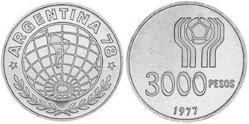 3000 Pesos
